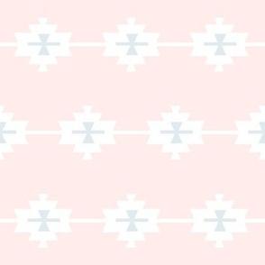 Aztec Pink & Light Blue / Grey