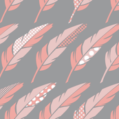 Fab Feathers - Pewter & Pink