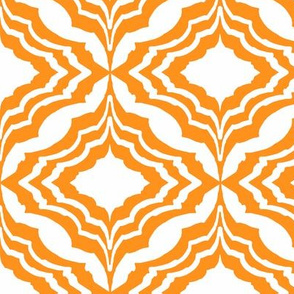Moroccan Ogee Orange