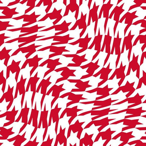 Christmas red houndstooth twist