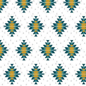 Tribal Diamond Teal Light