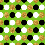 Dots in a row - Green Background