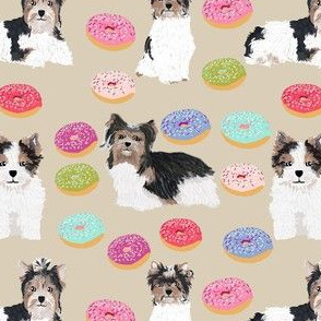 biewer terrier donuts fabric cute dogs and donuts design best donut fabric cute doughnuts sweets fabric