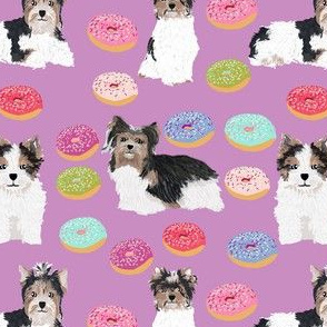 biewer terrier donuts fabric cute purple donut toy dog fabrics cute toy dog fabric design cute toy dog breeds