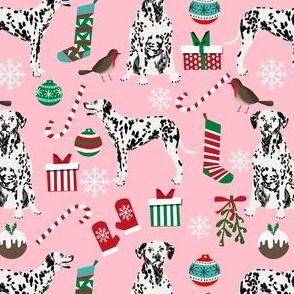 dalmatian pink christmas fabric cute  christmas fabrics xmas holiday xmas dog dalmatians