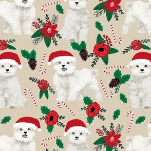 maltese poinsettia dogs fabric cute dog design best dogs fabric cute poinsettias fabric christmas xmas fabric