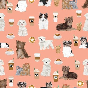 toy dogs coffee fabric cute dogs fabric cute toy dog breed design