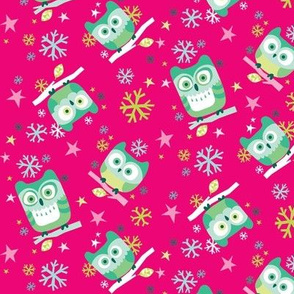 Hootin' Holidays in Small Pink