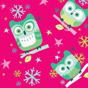Hootin' Holidays in Big Pink