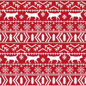 christmas cat fair isle fabric red christmas fabric sweater fabric cute sweater fabrics christmas reds xmas holiday design