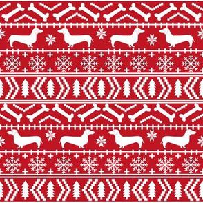 doxie fair isle fabric christmas fabric ugly sweater fabrics xmas holiday christmas fabrics