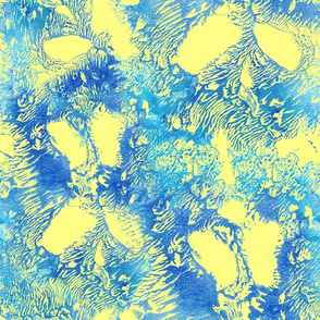 Yellow and Blue Abstract Biology Science Inspired