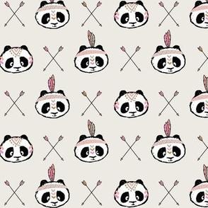 panda w/ arrow cross (pink) small scale