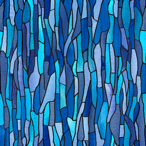 Blue Glass Spoon