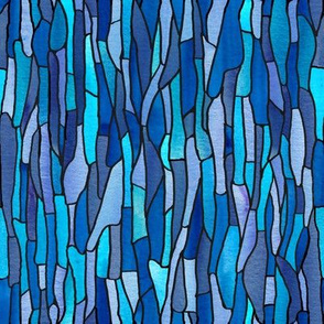 Stained Glass Blue Insect Wing