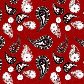 Fiji Paisley Multiples RedBlack