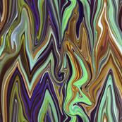 Tearful Ogre Bargello, brown, tan, purple and green, large