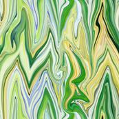 Tearful Ogre Bargello, Pastel Yellow, Blue, Green, large