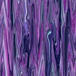 Liquid Purple Marbled, Purple, Teal, Magenta,  Large LW
