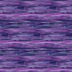 Liquid Purple Marbled,  Horizontal, Small  CW, Purple, Teal, Magenta
