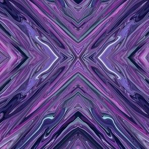 Liquid Purple Diamonds - Large - purple, lavender, teal