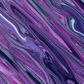 Liquid Purple Diamonds - Large  - purple, blue, lavender, teal, small scale, horizontal orientation, crosswise orientation, large scale-ed-ed-ed