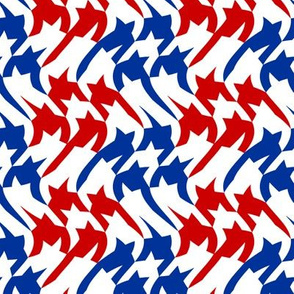 patriotic waving houndstooth
