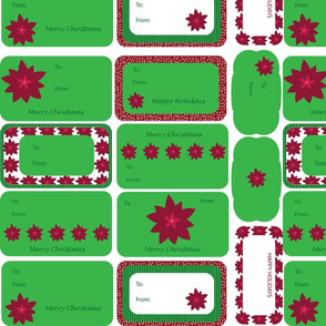 Modern Poinsettia Gift Tags