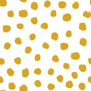 mustard dots yellow dots gold dots fabric cute baby girl fabric nursery baby fox girls