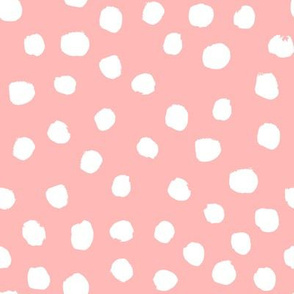 painted dots fox florals coordinate pink nursery baby floral fabric pink florals