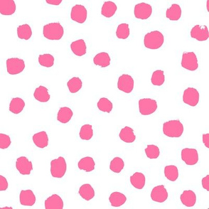 painted pink dogs cute floral pink florals baby nursery fabric
