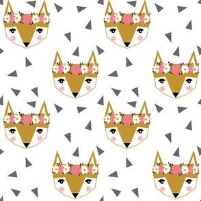 fox head florals - cute girls fox head design cute fox design