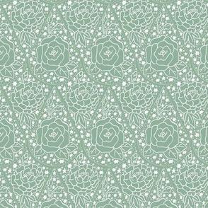 Tesselated teardrop mint