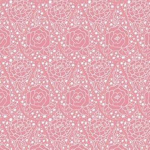 Tesselated teardrop rose pink