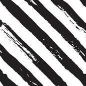 Black and white diagonal grunge paint brush lines