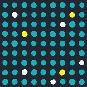 Brush polka dots navy
