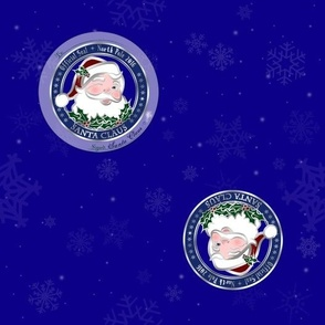 Official Santa Claus Wrapping Paper - Workshop Blue