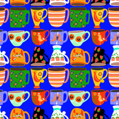 Coffee Cups in Blue