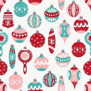 vintage christmas ornaments // vintage retro christmas christmas ornaments retro christmas fabrics cute vintage designs