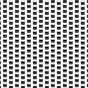 tiny bat mask print bow print