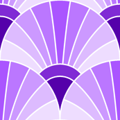 art deco fan scale : violet lilac mauve