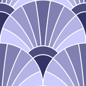 art deco fan scale : lavender indigo blue