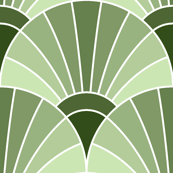 art deco fan scale : limestone khaki green