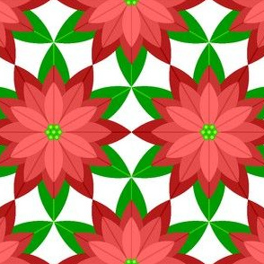 geometric poinsettia 6 : red