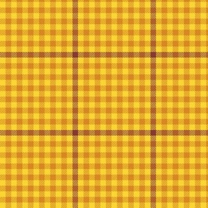 tartan check - autumn yellow