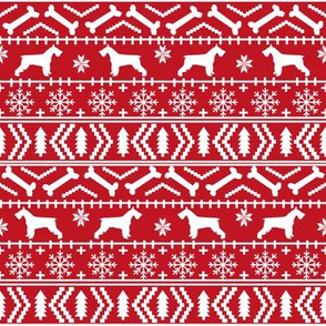 schnauzer christmas fair isle christmas fabric christmas dogs fabric cute schnauzers fabric