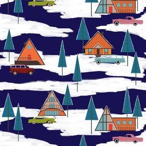 Mid Century Winter Vacation