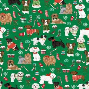 christmas dogs cute candy canes presents dog breeds pets cute dogs corgi poodles fabric