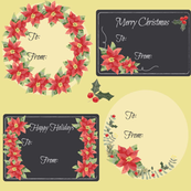 Christmas Tags Poinsettia