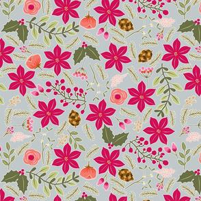 Poinsettia_flower_fond_gris_nuage_L